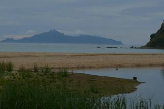 This is a shot of Langs Beach. I love a beach with mountains in the background.