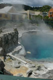 Cooking corn in a thermal pool